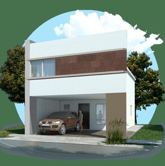 Fachada de casas en Escobedo